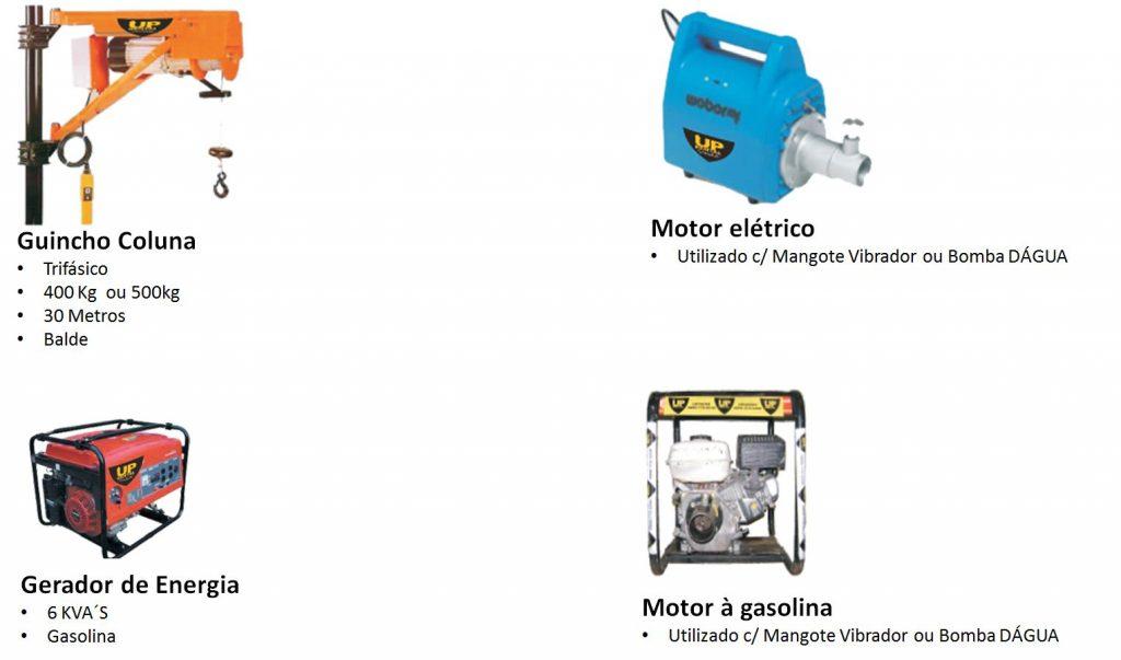 Locação-Aluguel Gerador de Energia, Guincho de Coluna,Motor Elétrico, Motor à gasolina